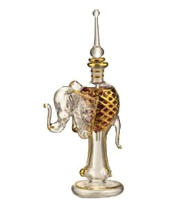 Elephant Shaped hand-blown glass perfume bottle