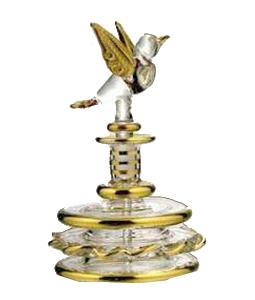 Bird Shaped Hand Blown Glass Perfume Bottle