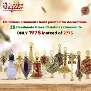 Blown glass Christmas ornaments sale